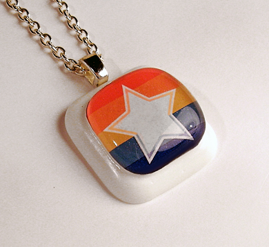 Retro Colorful Star pendant