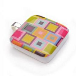 Abstract Squares Pendant